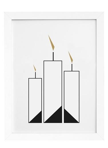 Nordbagen Candle Poster Beyaz